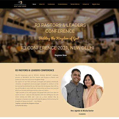 10 r3 conference NGO Web Design by ABS Bangalore