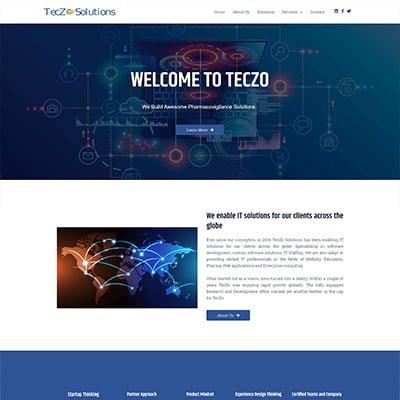 12 Teczo Solutions company Web Design by ABS Bangalore