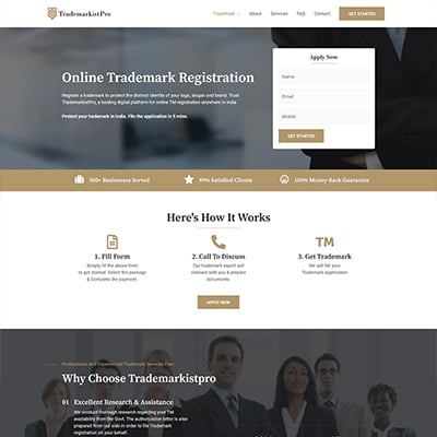 13 trademark pro legal Web Design by ABS Bangalore
