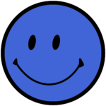 blue smiley face thank you page 2