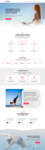 full homepage screenshot of Yoga Instructor & professional personal trainer Website design template | ABS company bangalore india