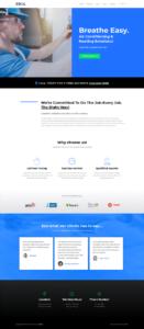 full homepage screenshot of a UI & UX design template of screencapture websitedemos net ac technician 02 2019 09 03 08 42 54