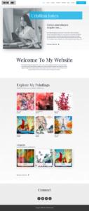 full homepage screenshot of a UI & UX design template of screencapture websitedemos net artist 02 2019 09 03 09 18 57