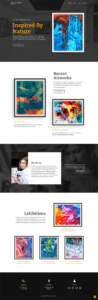 full homepage screenshot of a UI & UX design template of screencapture websitedemos net artist 04 2019 09 03 08 44 37