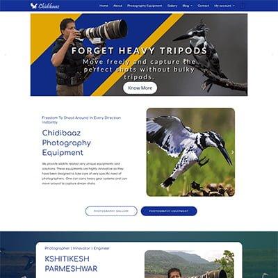 3 Chidibaaz photographer Web Design by ABS Bangalore