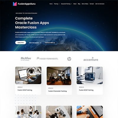 5 fusionapps guru online education Web Design by ABS Bangalore