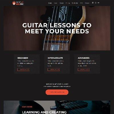 8 metalcat music online teaching Web Design by ABS Bangalore