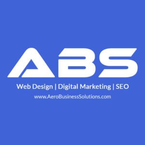 The Best Web Design, Development, Digital Marketing & SEO company Bangalore India ABS logo with blue background and white text overlay