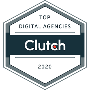clutch.co award badge 2020 for Aero Business Solutions ABS top digital agency in bangalore india 300X300